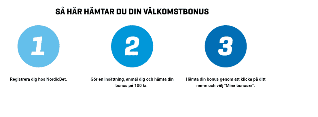 Hämta Välkomstbonus Nordicbet